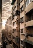 Złoty ranku widok od budynku fotografia royalty free