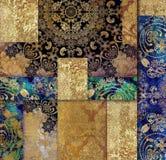 złoty rocznika kwiecistego projekta podławy tło ilustracji