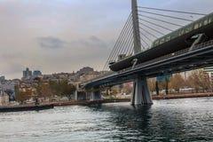 Złoty rogu metra most Istanbuł zdjęcie royalty free