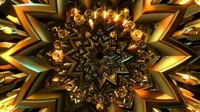 Złoty Rozjarzony ornament ilustracja wektor