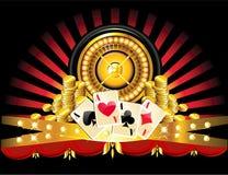 złoty ruletowy koło ilustracji