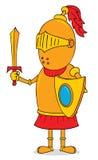 Złoty rycerz Zdjęcie Royalty Free