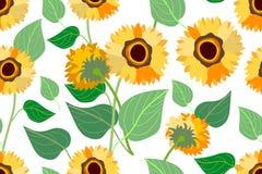 Złoty słonecznika pole Obraz Stock