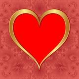 Złoty serce Obrazy Royalty Free