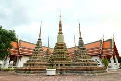 Złoty Stupas Bangko w Wata Phra Chetuphon Vimolmangklararm Rajwaramahaviharn świątyni, (W okolicy znać jako Wata Pho Buddyjska św Obrazy Royalty Free