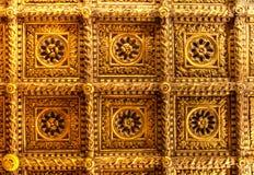 Złoty sufitu Ca doro, Wenecja, Włochy obrazy royalty free