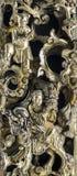 Złoty szczegół chiński drewniany artcraft Obraz Royalty Free