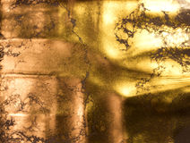 złoty tło abstrakta schematu Ciekły złoto Fotografia Royalty Free
