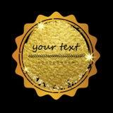 Złoty tło dla karty, vip, wyłączność na wywiad, świadectwo, prezent, luksus, przywilej, alegat, sklep, teraźniejszość, robi zakup Obrazy Royalty Free