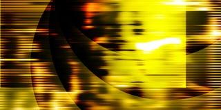 Złoty tło z jaskrawymi gradientu i plamy skutkami ilustracja wektor