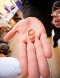 złoty target228_1_ pierścionków Zdjęcie Royalty Free