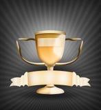 złoty trofeum royalty ilustracja