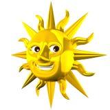 Złoty Uśmiechnięty słońce Zdjęcia Stock