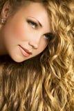 złoty włosy fotografia stock