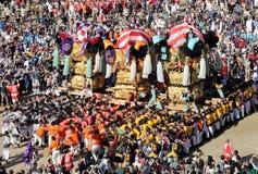 Złoty wielki świątyni festiva Obraz Royalty Free