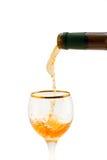 złoty wino Zdjęcia Royalty Free