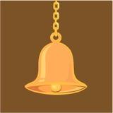 Złoty wiszący dzwon ilustracji