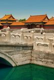 Złoty Wodny kanał w Niedozwolonym mieście w Pekin obrazy royalty free