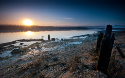 złoty wschód słońca Zdjęcia Stock