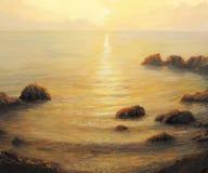 złoty wschód słońca Obrazy Stock