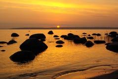 złoty wschód słońca Obrazy Royalty Free