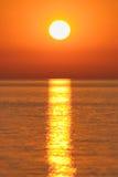 złoty wschód słońca Obraz Royalty Free
