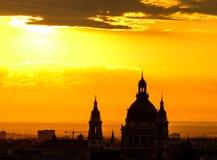 złoty wschód słońca Fotografia Stock