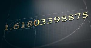 Złoty współczynnik, Fibonacci sekwencja, Boska proporcja ilustracji