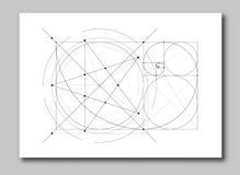 Złoty współczynnik sekci abstrakt ilustracja wektor