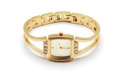 Złoty zegarek zdjęcie royalty free
