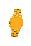 Złoty zegarek odizolowywający na bielu zdjęcie stock