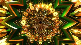 Złoty Zielony ornament royalty ilustracja