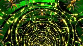 Złoty Zielony tunel ilustracji