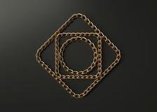 Złotych łańcuchów motyw obrazy royalty free