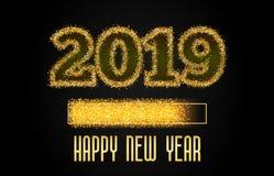 2019 Złotych ładowanie postępu barów ilustracja wektor
