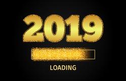 2019 Złotych ładowanie postępu barów ilustracji
