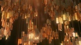 Złotych prostokątów abstrakcjonistyczny futurystyczny tło świadczenia 3 d Zdjęcia Stock