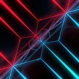 Złotych prostokątów abstrakcjonistyczny futurystyczny tło świadczenia 3 d Obraz Stock