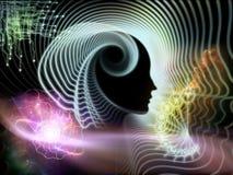 Złudzenie ludzki umysł ilustracja wektor