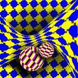 Złudzenie wektor Okulistyczna 3d sztuka Obracanie Dynamiczny Okulistyczny skutek Zawijasa złudzenie Złudzenie, Niekończący się, z ilustracji