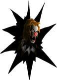 Zły błazen Obraz Royalty Free