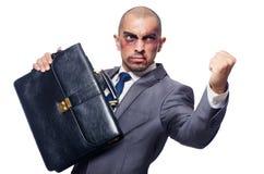 Zły bity biznesmen Fotografia Royalty Free