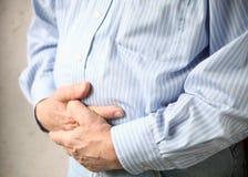 zły biznesmena bólu żołądek Fotografia Royalty Free