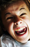 zły chłopiec portret Zdjęcie Stock