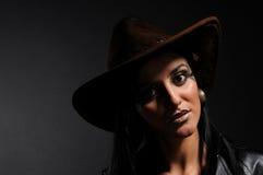 zły cowgirl Zdjęcie Royalty Free