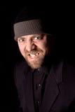 zły człowiek na drutach kapelusza Zdjęcie Royalty Free