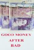 zły dobry pieniądze Zdjęcie Royalty Free