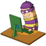 Zły hacker royalty ilustracja