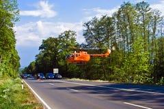 Ratowniczy helikopter jest na obowiązku Fotografia Stock