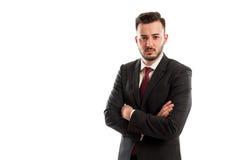 Zły i gniewny biznesowy mężczyzna fotografia royalty free